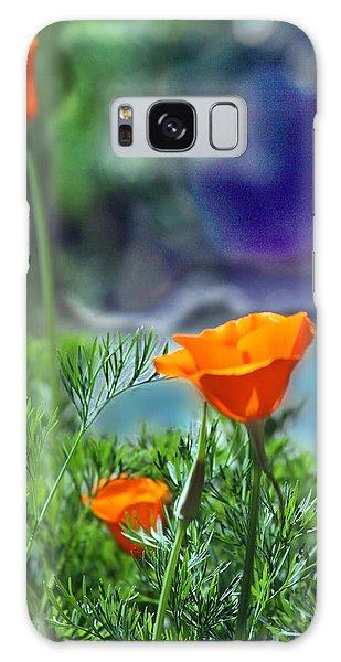 California Poppies Galaxy Case