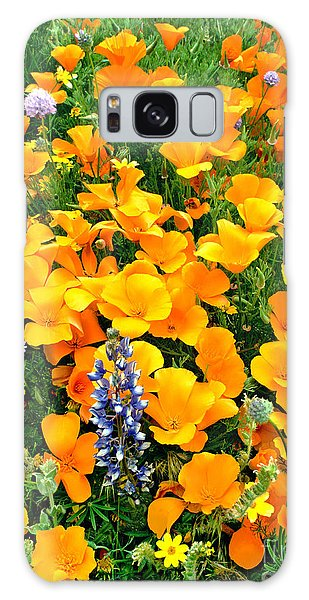 California Poppies And Betham Lupines Southern California Galaxy Case by Dave Welling
