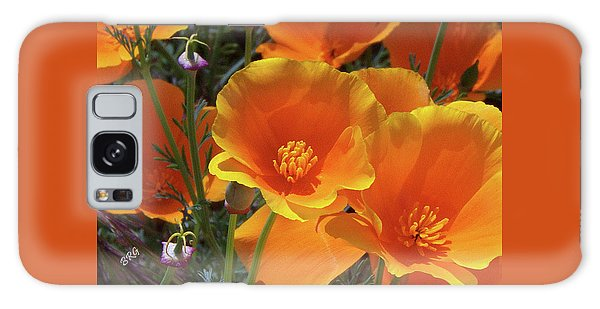 California Poppies Galaxy Case by Ben and Raisa Gertsberg
