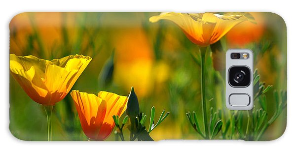 California Poppies Galaxy Case by Deb Halloran