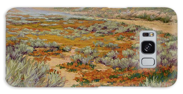California Poppies Galaxy Case by Jane Thorpe