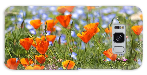 California Poppy Field Galaxy Case
