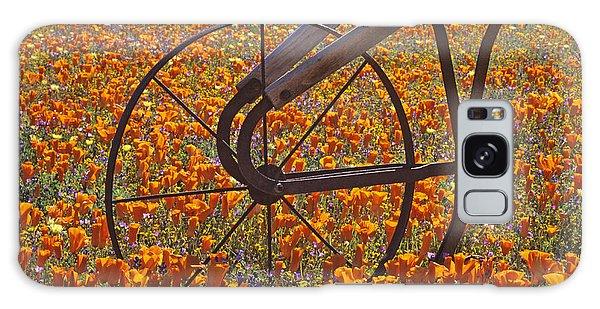 California Poppy Field Galaxy Case