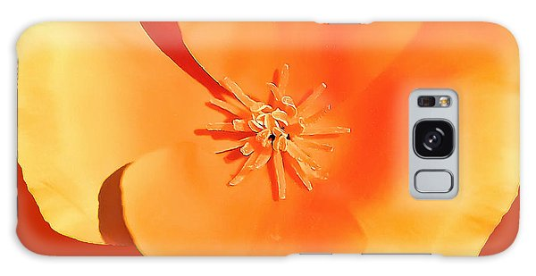 California Poppy Painting Galaxy Case