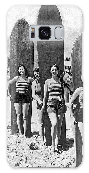 California Surfer Girls Galaxy Case
