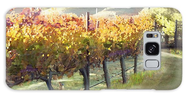 California Vineyard Series Morning In The Vineyard Galaxy Case by Artist and Photographer Laura Wrede