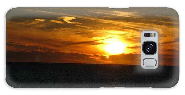 California Winter Sunset Galaxy Case