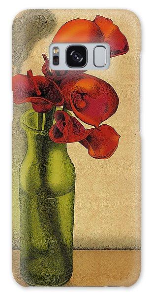 Calla Lilies In Bloom Galaxy Case by Meg Shearer