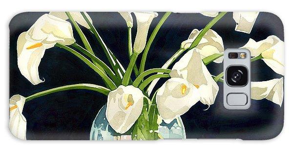 Calla Lilies In Vase Galaxy Case
