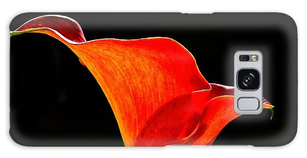 Calla Lily High Contrast Galaxy Case by Scott Lyons