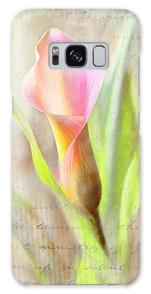 Calla Lily In Pink Galaxy Case
