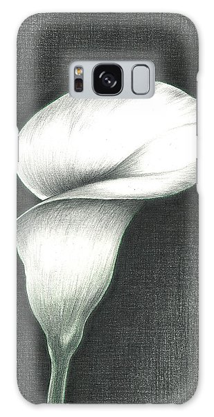 Calla Lily Galaxy Case by Troy Levesque
