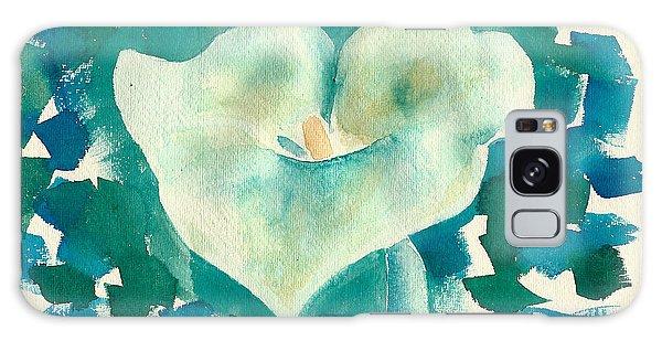 Calla Lily Watercolor Galaxy Case
