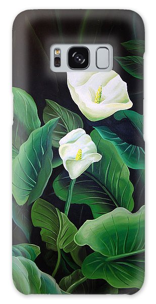 Calla Lily Galaxy Case by William Love