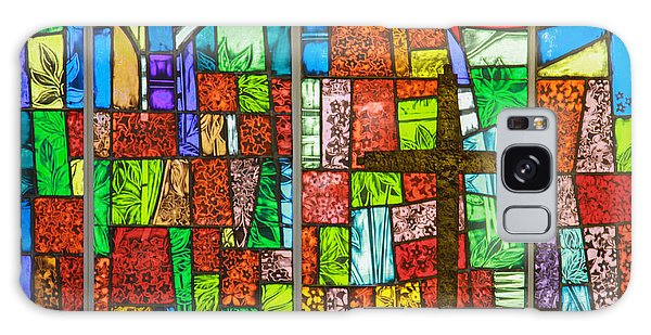 Callaway Gardens Chapel Alter Stone And Stained Glass Window Galaxy Case