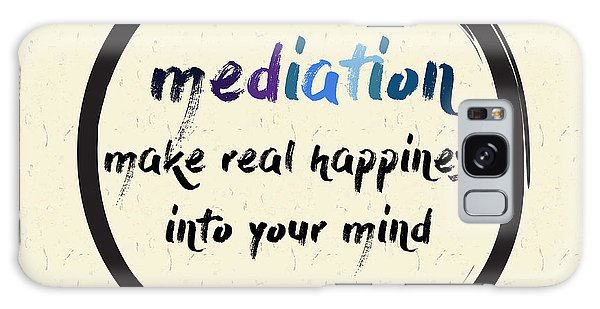 Buddhism Galaxy Case - Calligraphy Mediation Make Real by Emilie Gerard
