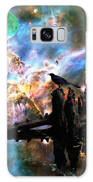 Calling The Night - Crow Art By Sharon Cummings Galaxy Case