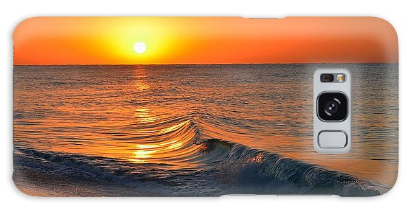 Calm And Clear Sunrise On Navarre Beach With Small Perfect Wave Galaxy Case by Jeff at JSJ Photography
