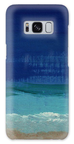Woods Galaxy Case - Calm Waters- Abstract Landscape Painting by Linda Woods
