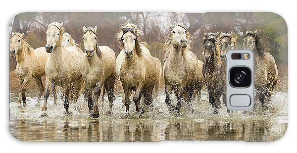Camargue Horses At The Gallop Galaxy Case