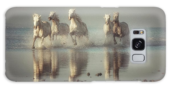 French Galaxy Case - Camargue Horses by Rostovskiy Anton