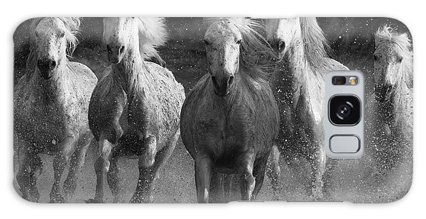 Horse Galaxy Case - Camargue Horses Running by Carol Walker