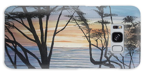 Cambria Cypress Trees At Sunset Galaxy Case