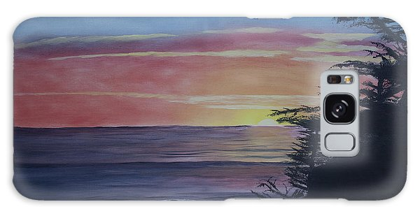 Cambria Setting Sun Galaxy Case by Ian Donley