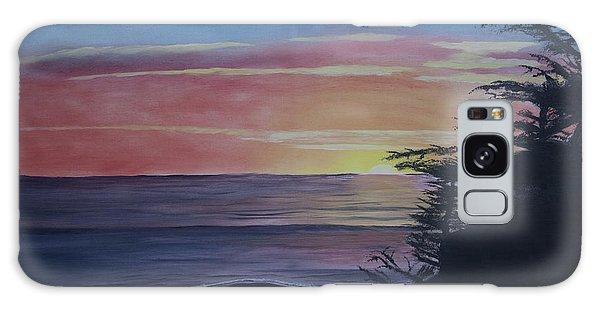 Cambria Setting Sun Galaxy Case by Ian Donley