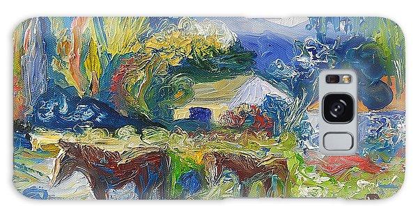 Cambridge Horses Original Artwork By Ekaterina Chernova Galaxy Case