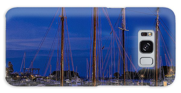 Camden Harbor Maine At 4am Galaxy Case by Marty Saccone