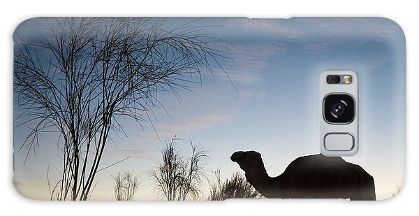 Desert Sunset Galaxy S8 Case - Camel Sunset by Delphimages Photo Creations