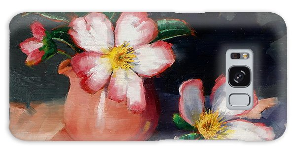 Camellias And Chinese Tea Jug II Galaxy Case