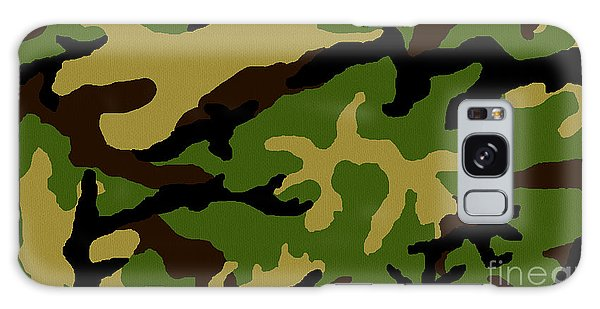 Camouflage Military Tribute Galaxy Case by Roz Abellera Art