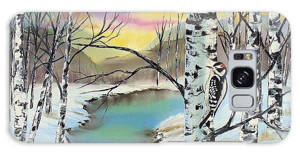 Camouflage Woodpecker Galaxy Case