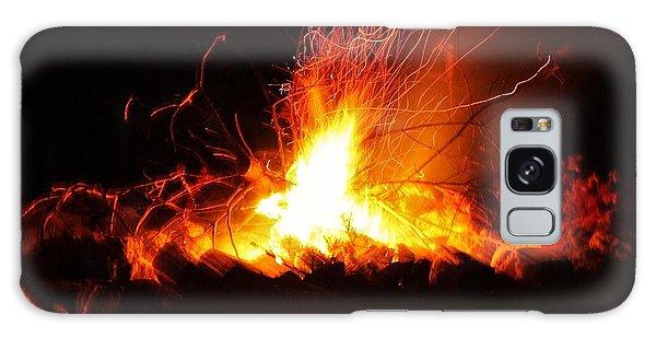 Camp Fire... Galaxy Case by Al Fritz