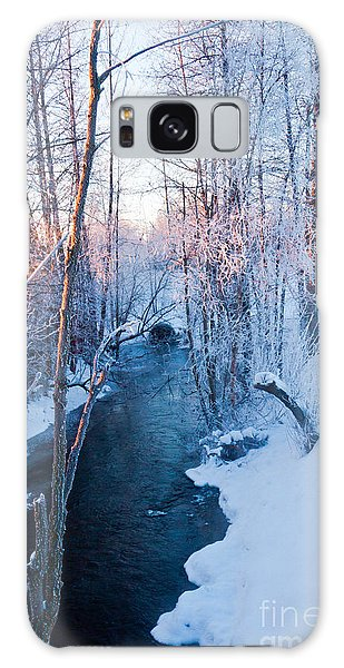 Campbell Creek In Hoarfrost Galaxy Case