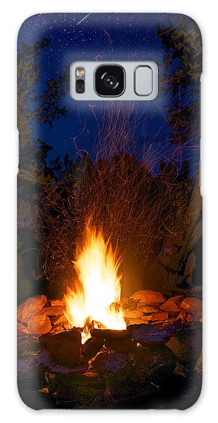 Campfire Under The Stars Galaxy Case