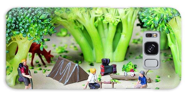 Camping Among Broccoli Jungles Miniature Art Galaxy Case by Paul Ge