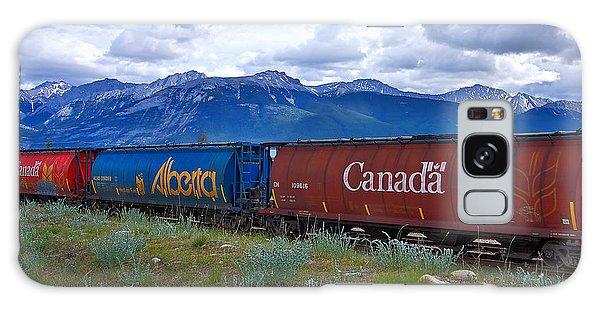 Canadian Freight Train In Jasper #2 Galaxy Case