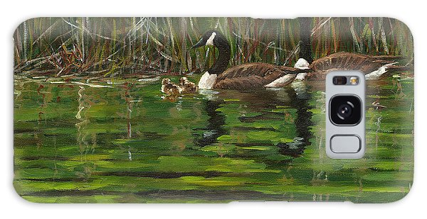 Gosling Galaxy Case - Canadian Geese by Grant Lounsbury
