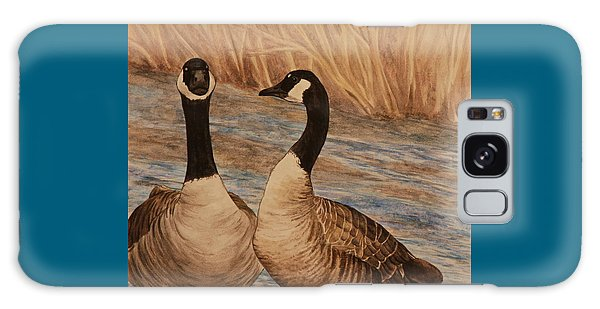 Canadian Geese Galaxy Case