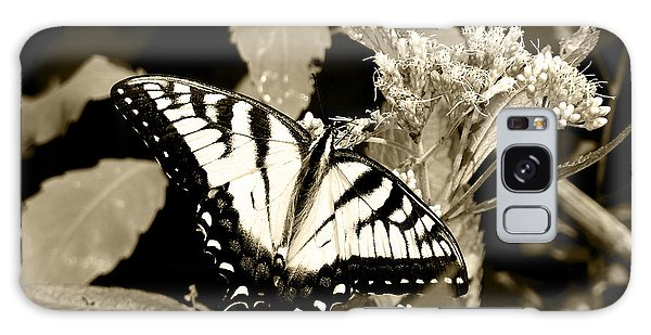 Canadian Tiger Swallowtail In Sepia Galaxy Case