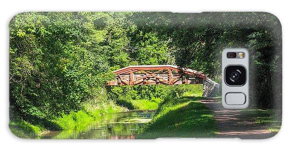 Canal Bridge Galaxy Case by David Nichols