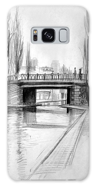 Canal Bridge In Paris Galaxy Case