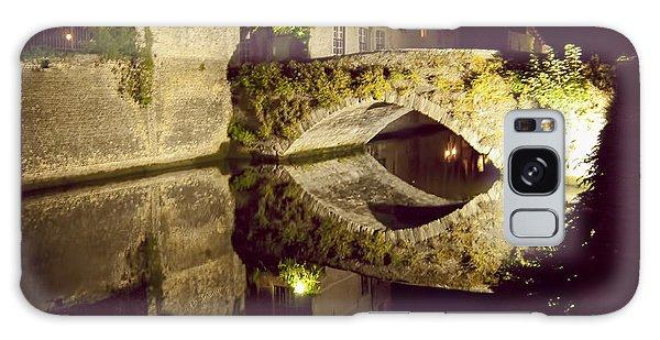 Canal Bridge Reflection Galaxy Case