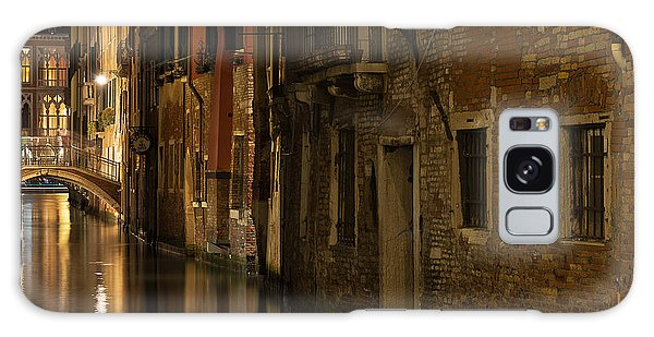 Canal Reflections Galaxy Case by Marion Galt