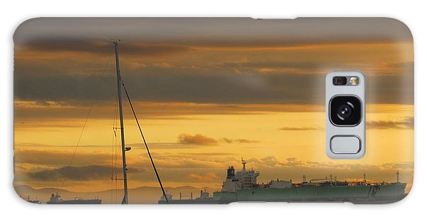 Canal Ship Sunrise Galaxy Case