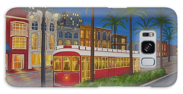 Canal Street Car Line Galaxy Case