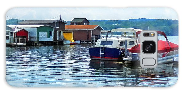 Canandaigua Fishing Shacks Galaxy Case